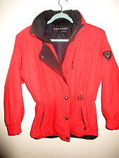 RAINIER Designer Womens Ski Winter Snow Board Jacket Coat RED Quilted s6