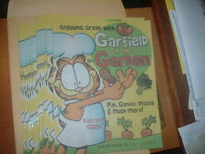 """GARFIELD IN THE GARDEN''FUN,GAMES,MAZES,AND MORE--BY JOHN HENERY-NEW 2001"