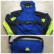 90s VTG NIKE ACG ANORAK Jacket PULLOVER L Jacket NEON Windrunner PACKABLE Hooded