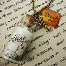 Alice in Wonderland Bottle With DRINK ME Tag and Key Necklace Kitsch