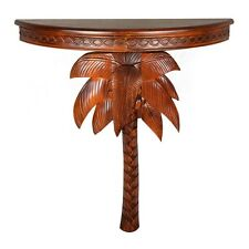 International Caravan Windsor Carved Exotic Palm Tree Wall Table,