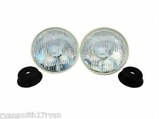 "CATERHAM 7 5 3/4"" H4 HALOGEN HEADLAMP/HEADLIGHT UNIT x2 WITHOUT PILOT PAIR 7Q3"