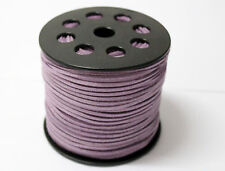 wholesale 10yd 3mm light purple Suede Leather String Jewelry Making Thread Cords