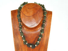 Moldavite necklace rough 46cm silver.925 63.05g OTHER767