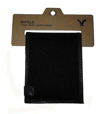 NWT AMERICAN EAGLE OUTFITTERS MENS PIQUE BIFOLD WALLET NEW  BLACK AEO