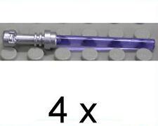 LEGO - 4 x Lichtschwert  Laserschwert silber - trans lila / 64567 30374 NEUWARE