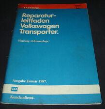 Werkstatthandbuch VW Transporter T3 Heizung Klimaanlage Klima Stand Januar 1987