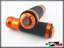 Strada 7 CNC Orange Grips & Bar Ends Combo Honda CBR 600 F2 F3 F4 F4i CBR900RR