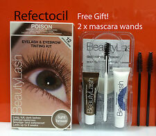 Refectocil Eyelash & Eyebrow tint Kit  - 3.1 Light Brown + mascara wands