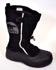 Sorel Alpha PAC XT Waterproof Black Snow Winter Boots Mens 8/ 41 1/3 Felt Liner