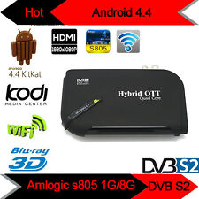 Android TV Box V8 Plus DVB-S2 Satellite TV Receiver Amlogic S805 Quad Core XBMC