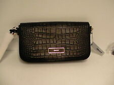 DKNY crossbody bag croco embossed leather new