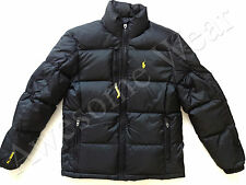 New Ralph Lauren Polo Classic Black w/ Yellow Winter Puffer Down Jacket size L