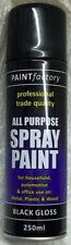 All Purpose Black Gloss Spray Cans Spray Paint Exterior Interior 250ml On Sale