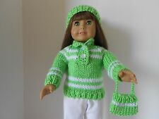 "3 Piece Set- Sweater, Hat and Purse for 18"" Doll"
