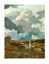 ERIC SLOANE Signed & Num'd VERY RARE Ltd. Ed. OOP 1979 Collotype SKY CATHEDRAL