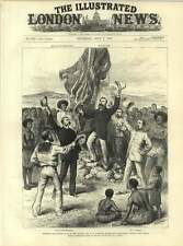 1883 Queensland Magistrate Chester Hoisting British Flag New Guinea