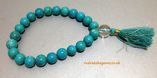 TURQUOISE ELASTIC BRACELET BEADS JAPA MALA HELPS IN WISDOM POSITIVE VIBRATIONS