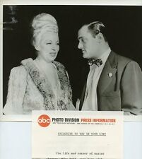 MAE WEST MIKE TODD PORTRAIT AROUND THE WORLD OF MIKE TODD ORIG 1968 ABC TV PHOTO
