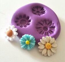 Tiny Daisy Flowers Silicone Mould Sugarcraft Icing Cake Decorate Icing Fondant