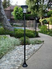 "2-Pack Outdoor Solar 77"" H Lamp Post Vintage Street Light w/ 4 Super Bright LEDs"