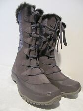 New The North Face authentically women's gray waterproof winter lace-up boot  7