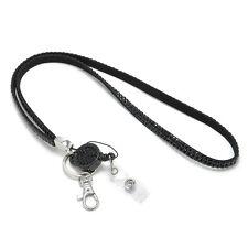 Cute Neck Rhinestone Lanyard Retractable Strap ID Badge Reel Phone Key Holder