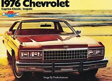 1976 Chevrolet Caprice Classic and Impala 12-page Car Sales Brochure Catalog
