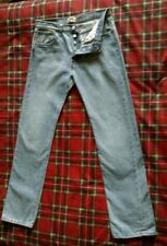 Vintage Levi's 501 Blue Jeans size W:33 L:34 Red Tab Button fly