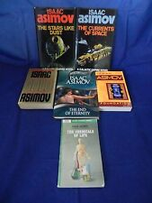 Lot of 6 Asimov;Foundation, Currents of Space,Stars Like Dust,End of Eternity, +