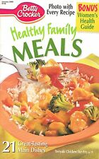 HEALTHY FAMILY MEALS BETTY CROCKER JANUARY 2000 COOKBOOK #158 TASTY SNACKS, FISH