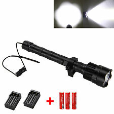 Trustfire 6000LM 3x XML T6 LED Flashlight Torch+Pressure Switch+Mount Gun+18650