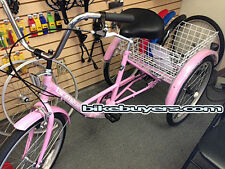 "Gomier Shimano 6-speed Adult Tricycle Bike Bicycle 3 wheel wheeler 24"" PInk"