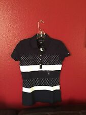 New Tommy Hilfiger Womens Short Sleeve Polo Shirt  Size XS And S Available