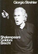 Mu41 Shakespeare Goldoni Brecht Giorgio Strehler 1988