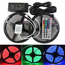 2X5M 5050 Streifen LED RGB Wasserdicht Licht 10M Leiste+Fernbedienung + Netzteil