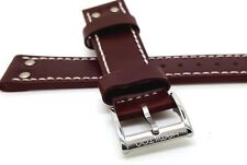 NEW HAMILTON 20MM GENUINE LEATHER WATCH STRAP BROWN
