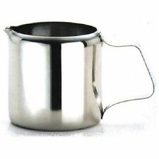 6 x Genware Stainless Steel Milk Jug 3oz/100ml Retro Cafe Tearoom Restaurant F7G