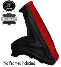 RED SUEDE BLACK LEATHER FOR VAUXHALL OPEL ASTRA F 1991-1981 HANDBRAKE GAITER