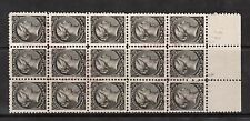 Canada #34 VF Used Block Of 15 With Red Grid Cancels