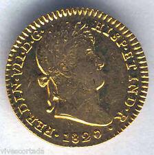 Fernando VII 2 Scudi 1820 Siviglia C.@@J. Oro @ Molto Bella @