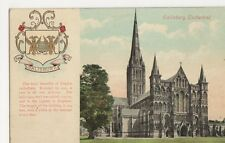 Salisbury Cathedral, Heraldic Coat of Arms Postcard, B290