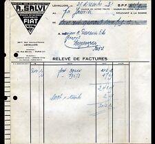 """LEVALLOIS-PERRET (92) PIECES détachées pour AUTOMOBILES FIAT """"A. SALVI"""" en 1931"""