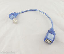 Blue USB 2.0 B Female To UP Angled USB B Male Printer Short Data Cable Adapter