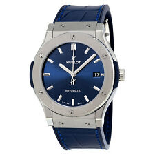 Hublot Classic Fusion Blue Sunray Dial Titanium Automatic Mens Watch