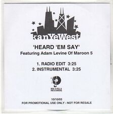 (EO625) KanYeWest, Heard 'Em Say ft Adam Levine - 2005 DJ CD