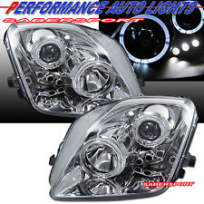 1997-2001 HONDA PRELUDE DUAL ANGEL EYES HALO PROJECTOR HEADLIGHTS w/ LED CHROME