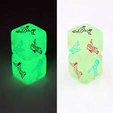 20mm Novelty Glow In The Dark Dice Fun Erotic Dice Game fo Lovers Bachelor Party