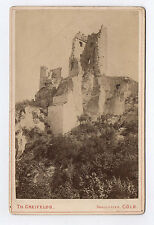 CARTE CABINET PHOTO Ruine Château Burg Drachenfels TH. Creifelds Cöln 1900