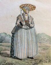 Fryslân frison Femme d'un batelier de la Frise Inès Esménard Villain 1830